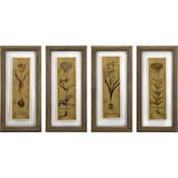 Cassander Double Glass Print Wall Art (Set of 4)