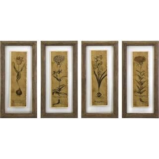 Cassander Double Glass Print Wall Art (Set of 4)