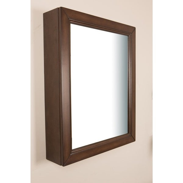 24 in mirror cabinet sable walnut free shipping today