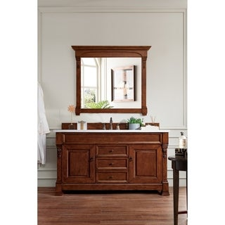 "Brookfield 60"" Warm Cherry Single Vanity"