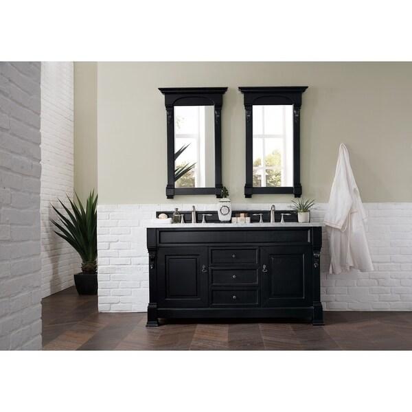 "Brookfield 60"" Double Cabinet, Antique Black"