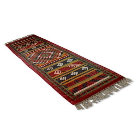 Handmade Indo Jute Majesty Runner Rug - 8' x 2'11 (India)