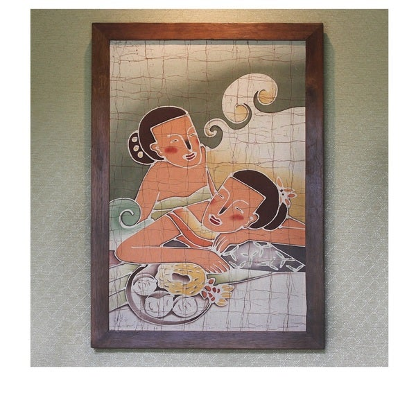 Handmade Cotton Friends Batik Art (Thailand)