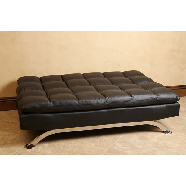 Abbyson Vienna Black Leather Euro Lounger Sofa - Free Shipping Today -  Overstock.com - 16843293 - Abbyson Vienna Black Leather Euro Lounger Sofa - Free Shipping