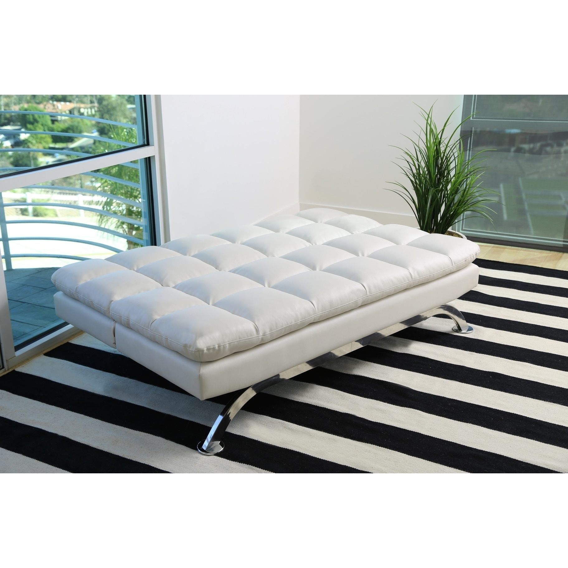 Vienna Bonded Leather Chaise Lounger Vienna Sofa Bed