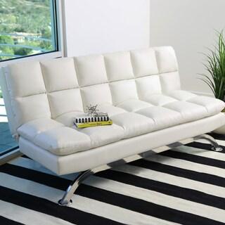 Abbyson Vienna Bonded Leather Euro Futon Sofa