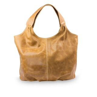 Handmade Leather Urban Honey Brown Hobo Handbag (Mexico)