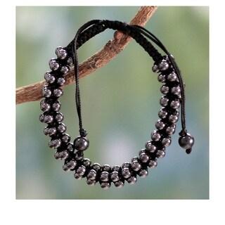 Handmade Hematite Tranquil Night Bracelet (India)