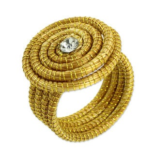 Handcrafted Golden Grass 'Jalapao Evolution' Cocktail Ring (Brazil)