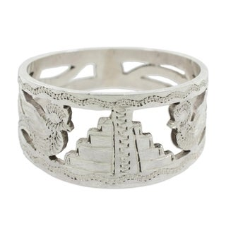 Men's Sterling Silver 'Quetzales Of Tikal' Ring (Guatemala)