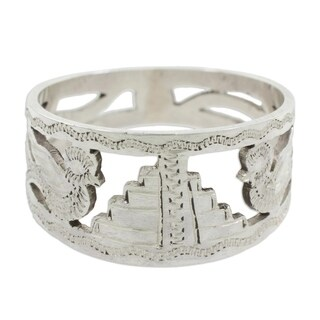 Handmade Men's Sterling Silver 'Quetzales Of Tikal' Ring (Guatemala)