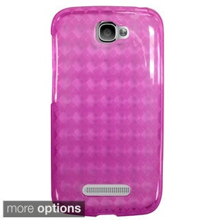 INSTEN Premium Argyle TPU Rubber Candy Skin Phone Case Cover For Alcatel One Touch Fierce 2 7040T