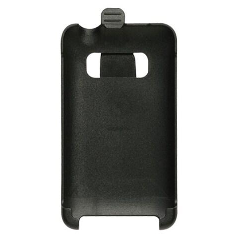INSTEN Black Rubberized Hard Snap-on Belt Clip Holster Phone Case Cover For HTC EVO 4G