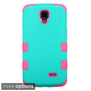 INSTEN Tuff Dual Layer Hybrid Zebra Rubberized Hard PC Silicone Phone Case Cover For LG Volt LS740