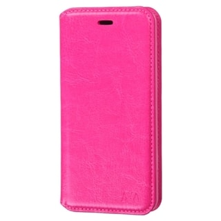 INSTEN Hot Pink Leather Wallet Folio Book-Style Flip Phone Case Cover With Stand For Amazon Fire Phone