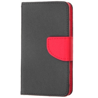 INSTEN Leather Wallet Folio Book-Style Flip Phone Case Cover With Stand For LG Optimus F6