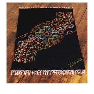 Handmade Wool 'Cosmic Chakana' Rug (3.5x5) (Peru)