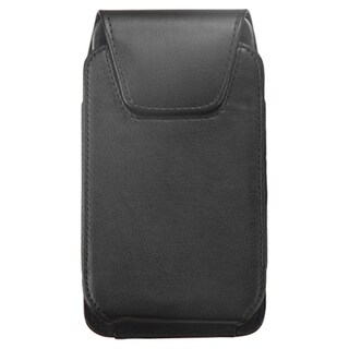 INSTEN Black Leather Folio Book-Style Flip Belt Clip Slide in Pouch Phone Case Cover