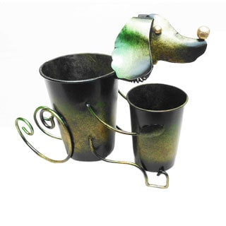 D-Art Iron Dog Decor Planter (Indonesia)