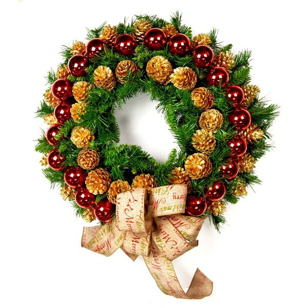 Christmas Bow Holiday Wreath