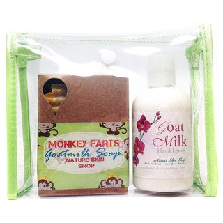 Goat Milk Hand Lotion And Monkey Farts Soap Gift Set