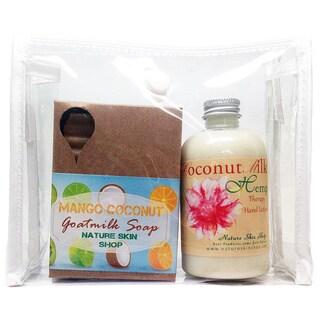 Handmade Coconut Hemp Hand Lotion And Coconut Mango Soap Gift Set (USA)