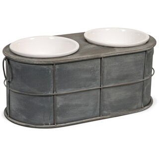 Casoria Pet Feeder with Ceramic Bowls