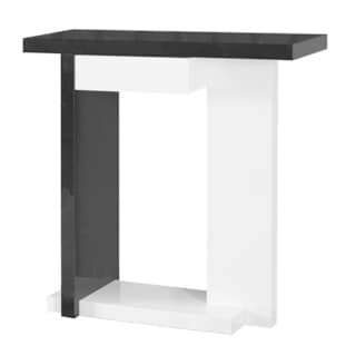 Gloss White/ Black Hall Console Accent Table