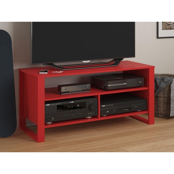 Ameriwood Home Reese Ruby Red Tv Stand