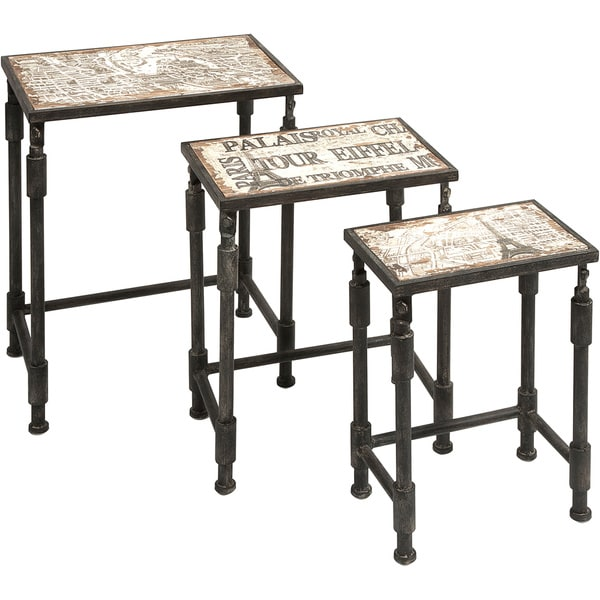 White Zinnia Nesting Tables Set Of 3: Shop Knoxlin Nesting Tables (Set Of 3)