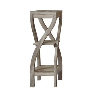 Dark Taupe Reclaimed-Look Plant Stand