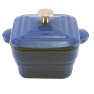 Cast Iron Blue Square Casserole