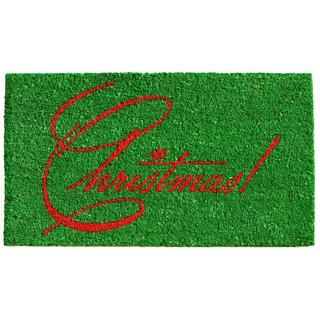 Christmas Coir with Vinyl Backing Doormat (1'5 x 2'5)