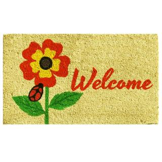 Summer Splendor Coir with Vinyl Backing Doormat (1'5 x 2'5)