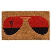 Tropical View Coir with Vinyl Backing Doormat (1'5 x 2'5)