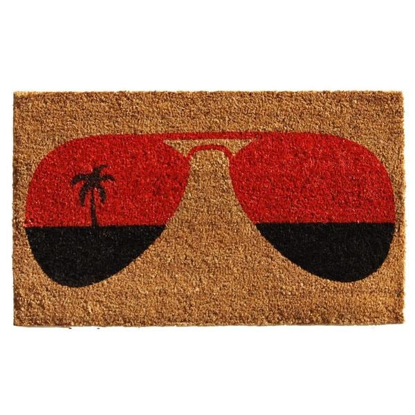 Tropical View Coir with Vinyl Backing Doormat (1'5 x 2'5)