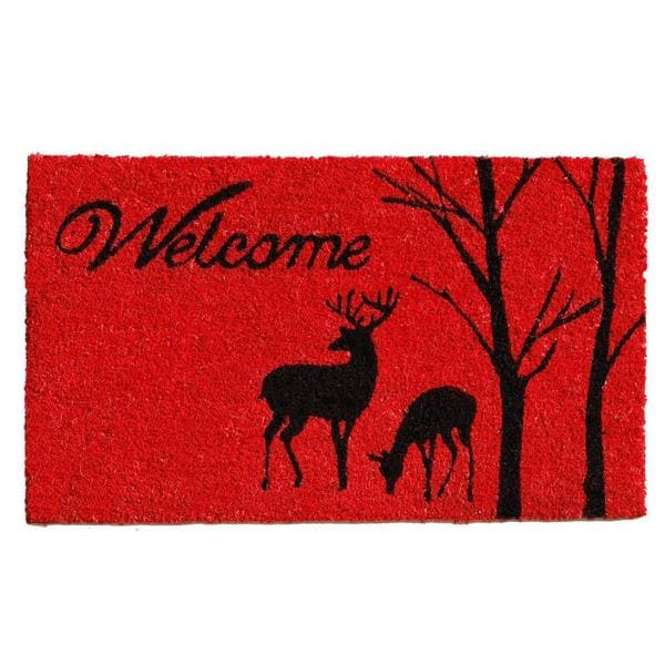 Winter Welcome Coir with Vinyl Backing Doormat (1'5 x 2'5)