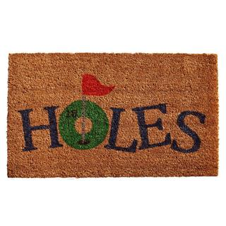 18 Holes Coir with Vinyl Backing Doormat (1'5 x 2'5)