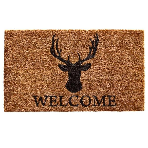 Deer Welcome Coir with Vinyl Backing Doormat (1'5 x 2'5)