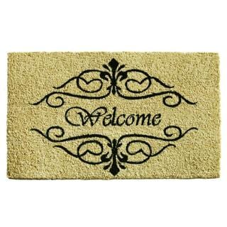 Classic Welcome Coir with Vinyl Backing Doormat (1'5 x 2'5)