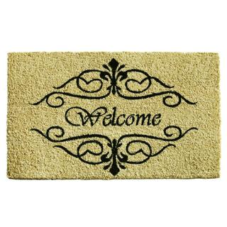 Classic Welcome Coir with Vinyl Backing Doormat (2' x 3')
