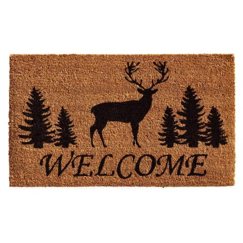 Elk Forest Welcome Coir with Vinyl Backing Doormat (2' x 3')