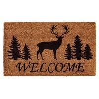 Elk Forest Welcome Coir with Vinyl Backing Doormat (2' x 3')