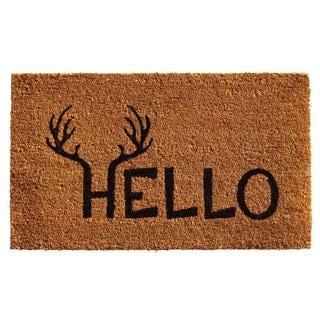 Exceptional Antler Hello Coir With Vinyl Backing Doormat (2u0027 ...