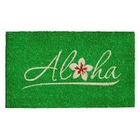 Aloha Coir with Vinyl Backing Doormat (1'5 x 2'5)