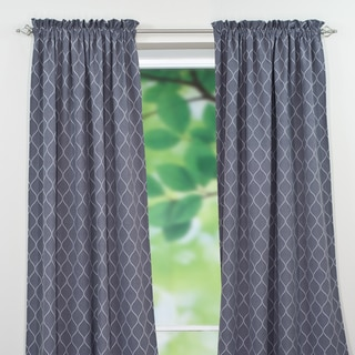 Oh Gee Heather Grey Rod Pocket Curtain Panel