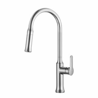 KRAUS Nola Single-Handle Kitchen Faucet with Pull Down Dual-Function Sprayer in Chrome