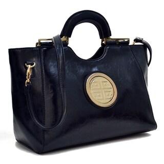 Dasein Loop Handle Leatherette Shoulder Bag (4 options available)