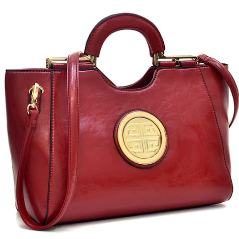 Dasein Loop Handle Leatherette Shoulder Bag
