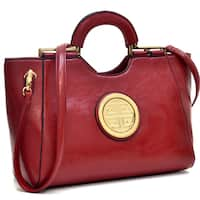 Dasein Leatherette Loop-handle Shoulder Bag